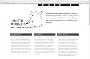 Hamster Wrangler website screen shot