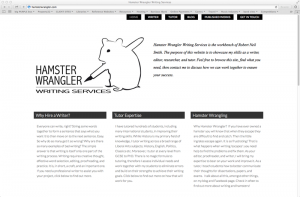 Hamster Wrangler website screen shot
